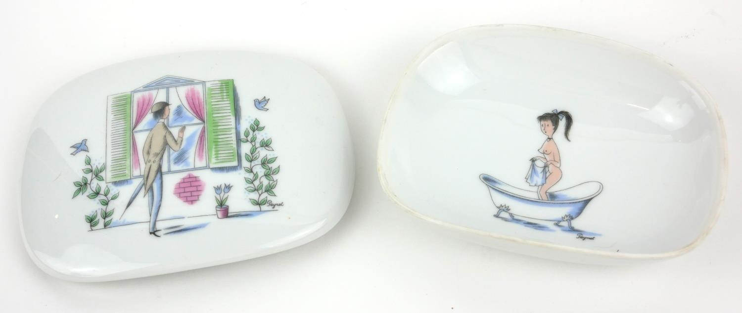 RAYMOND REYNET FOR ROSENTHAL, AN AMUSING PORCELAIN NOVELTY TRINKET BOX AND COVER, CIRCA 1960 - Image 6 of 9