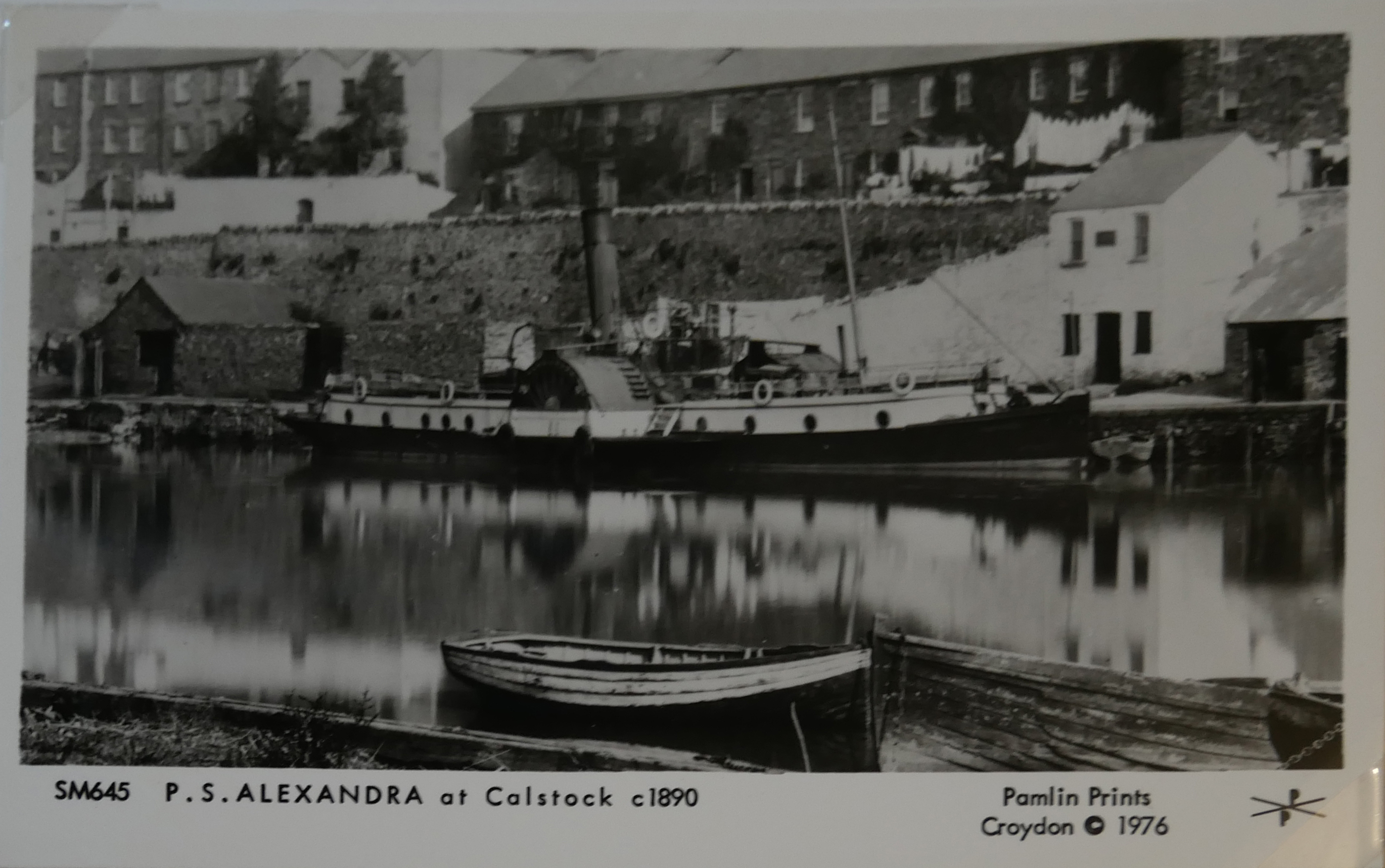 AN ALBUM OF BLACK AND WHITE PHOTOGRAPHIC POSTCARDS OF STEAM SHIPS Issued by Pamlin Prints, including - Image 7 of 10