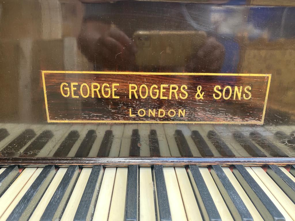 GEORGE RODGERS & SONS LONDON A mahogany cased baby grand piano - Image 5 of 5