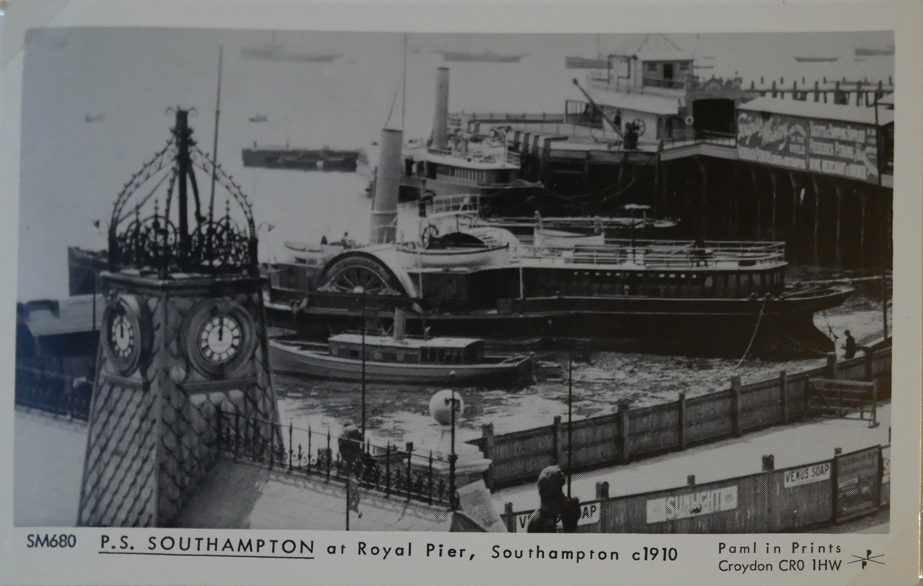 AN ALBUM OF BLACK AND WHITE PHOTOGRAPHIC POSTCARDS OF STEAM SHIPS Issued by Pamlin Prints, including - Image 5 of 10