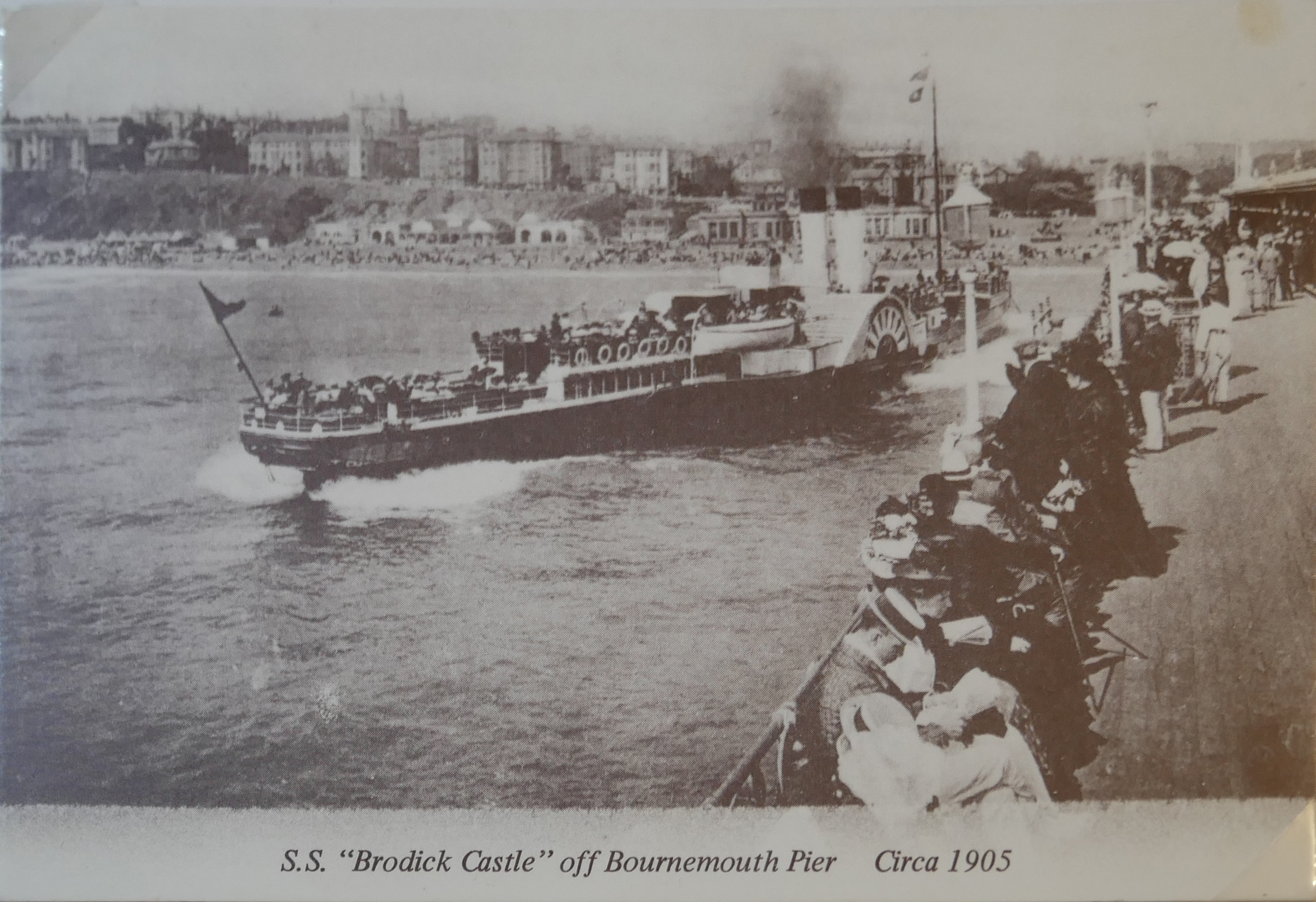 AN ALBUM OF BLACK AND WHITE PHOTOGRAPHIC POSTCARDS OF STEAM SHIPS Issued by Pamlin Prints, including - Image 2 of 10