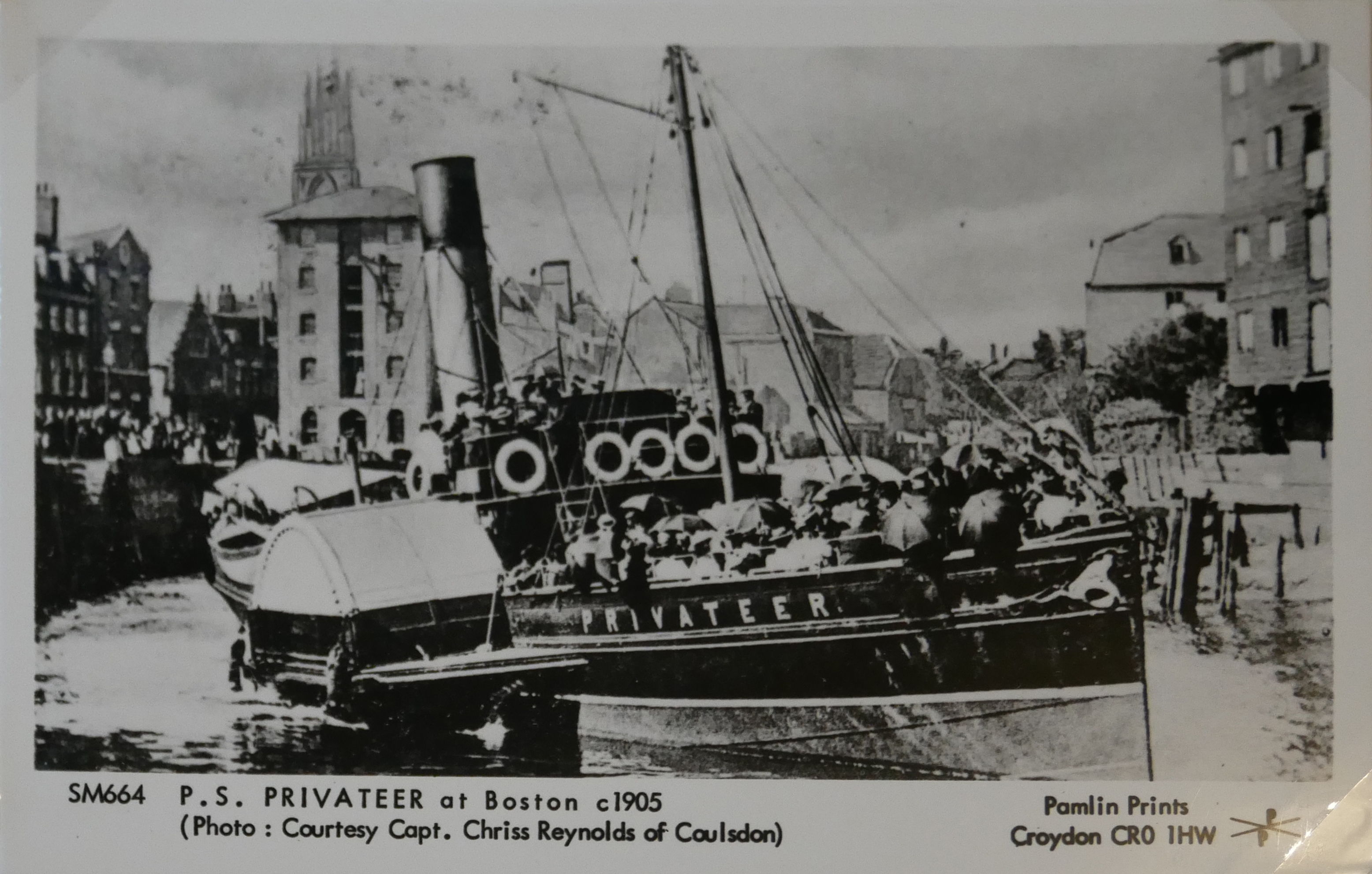 AN ALBUM OF BLACK AND WHITE PHOTOGRAPHIC POSTCARDS OF STEAM SHIPS Issued by Pamlin Prints, including - Image 10 of 10