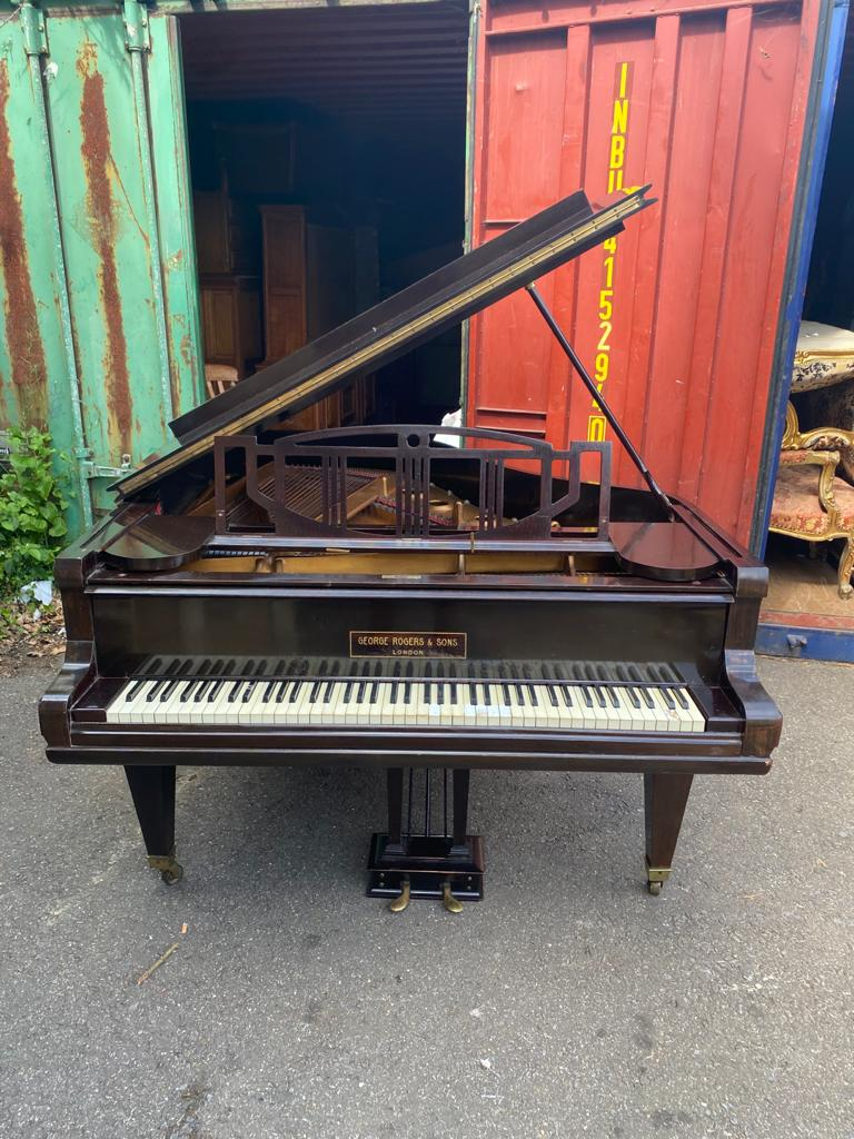 GEORGE RODGERS & SONS LONDON A mahogany cased baby grand piano - Image 2 of 5