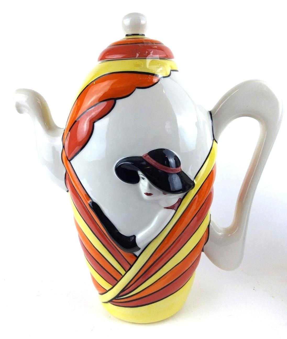 LORNA BAILEY OF STOKE-ON-TRENT, A LARGE LIMITED EDITION (41/75) ART DECO STYLE PORCELAIN LADIES'