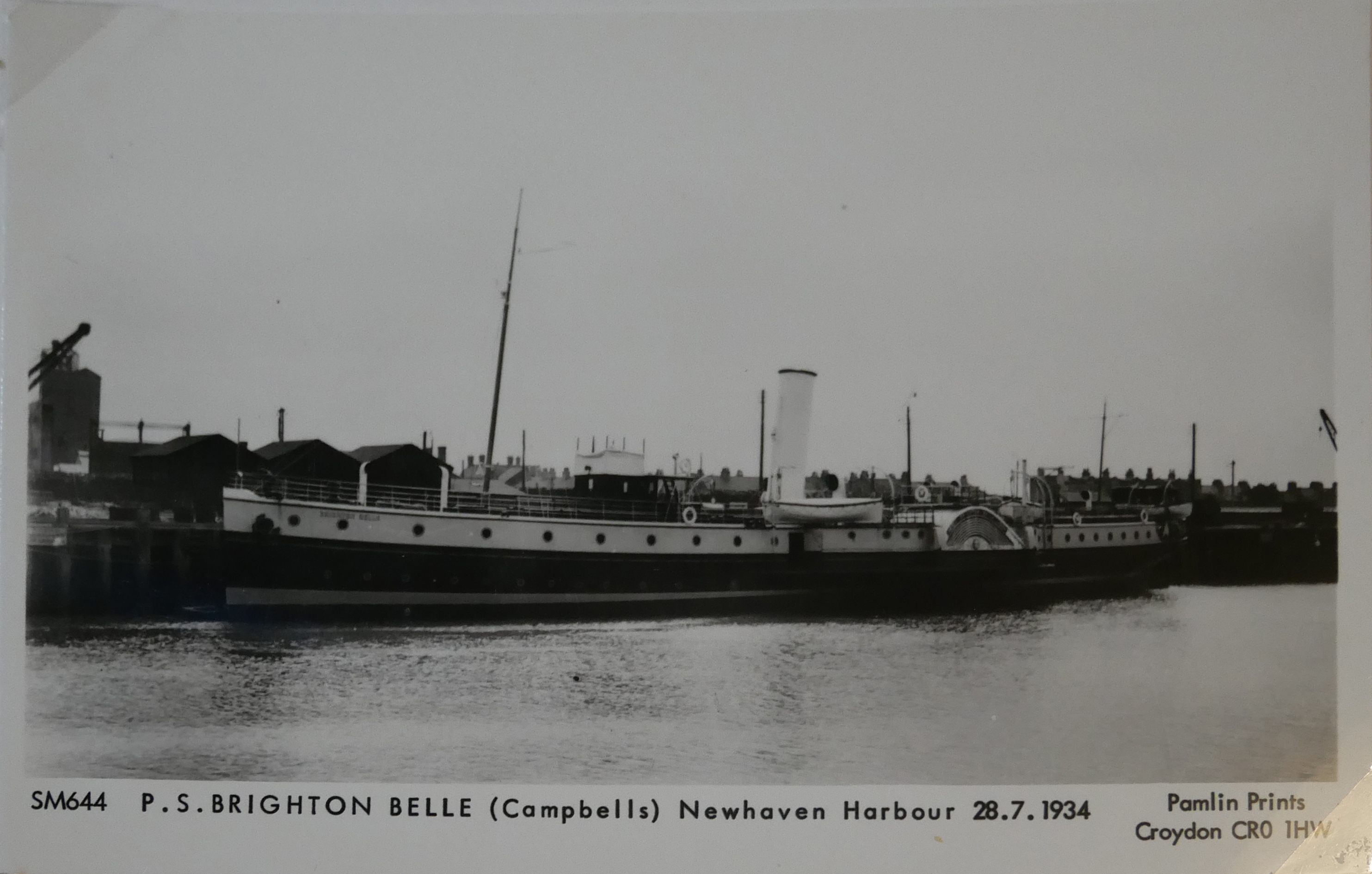 AN ALBUM OF BLACK AND WHITE PHOTOGRAPHIC POSTCARDS OF STEAM SHIPS Issued by Pamlin Prints, including - Image 9 of 10