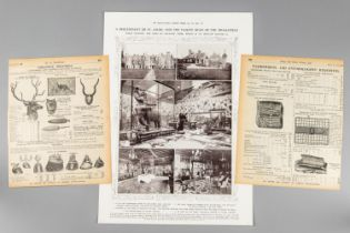 EARLY 20TH CENTURY EPHEMERA TO INCLUDE A PAGE FROM ILLUSTRATED LONDON NEWS OCT 22 1910.