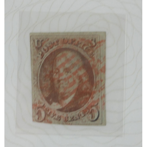 A UNITED STATES 5C BENJAMIN FRANKLIN POSTAGE STAMP, ISSUED 1847 And with The Westminster Mint - Image 2 of 2