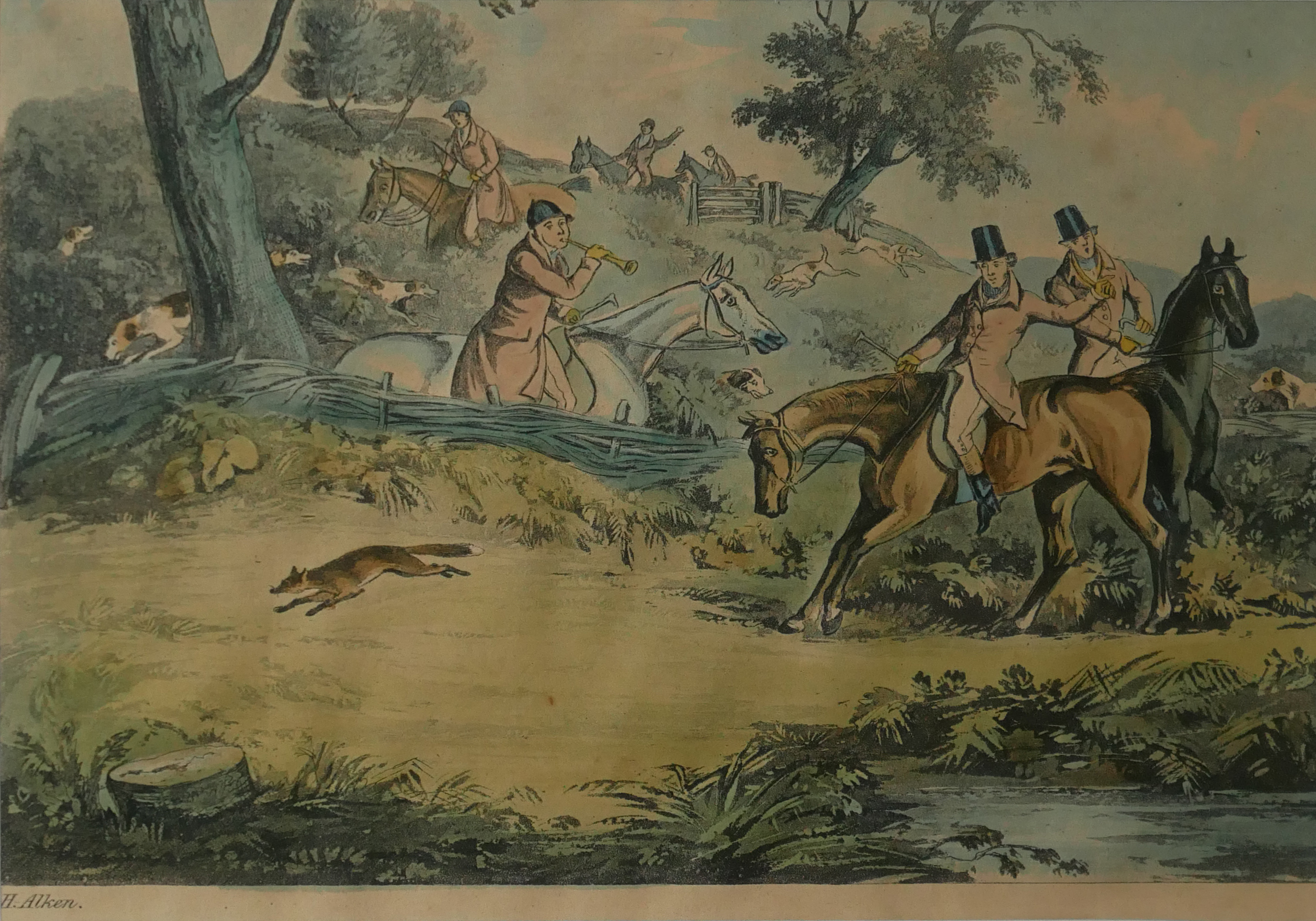 A COLLECTION OF SPORTING COLOURED ENGRAVINGS To include a scene Ben Marshall - notions series, - Image 2 of 7