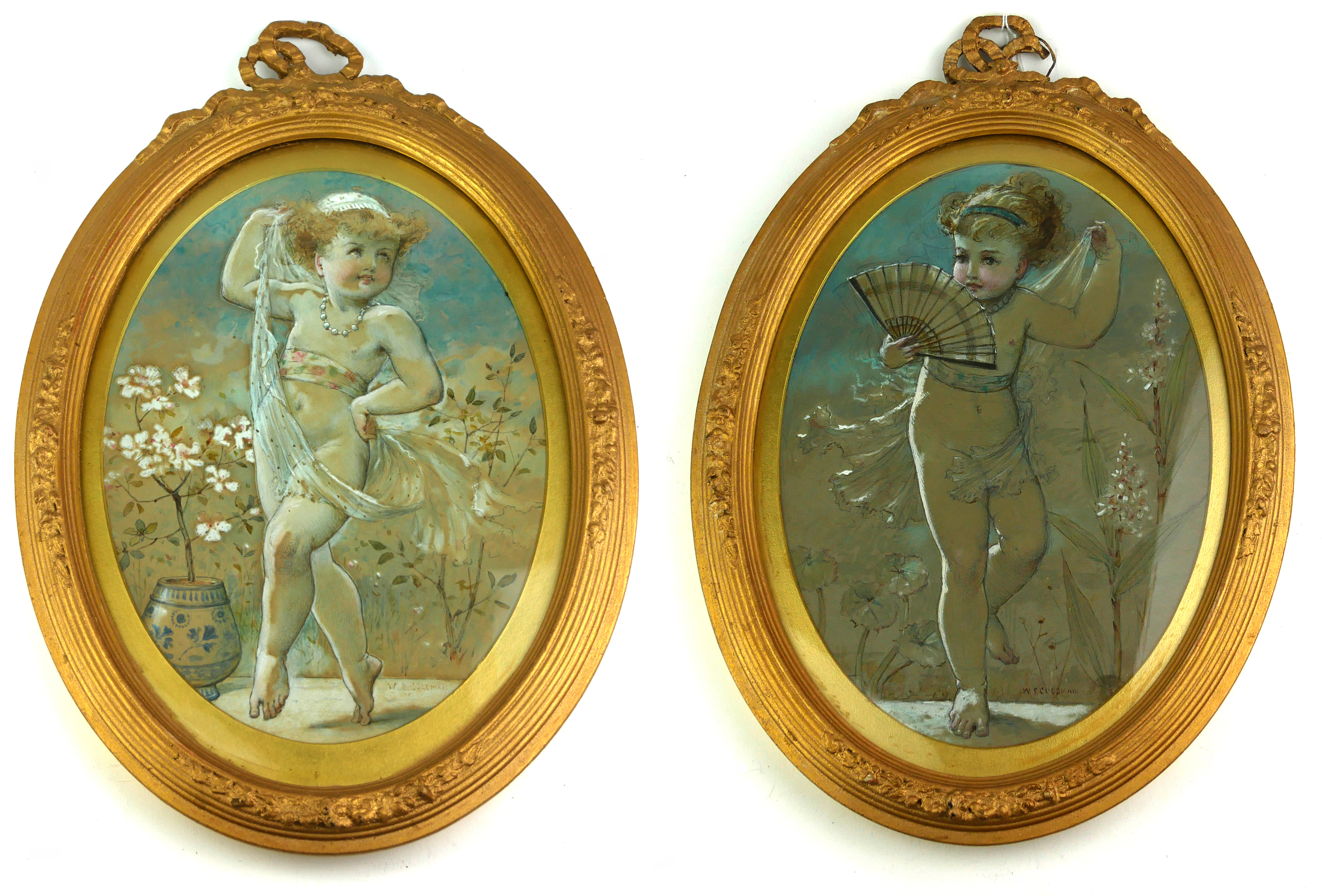 WILLIAM STEPHEN COLEMAN, 1829 - 1904, ENGLISH PAINTER AND BOOK ILLUSTRATOR, A PAIR OF 19TH CENTURY