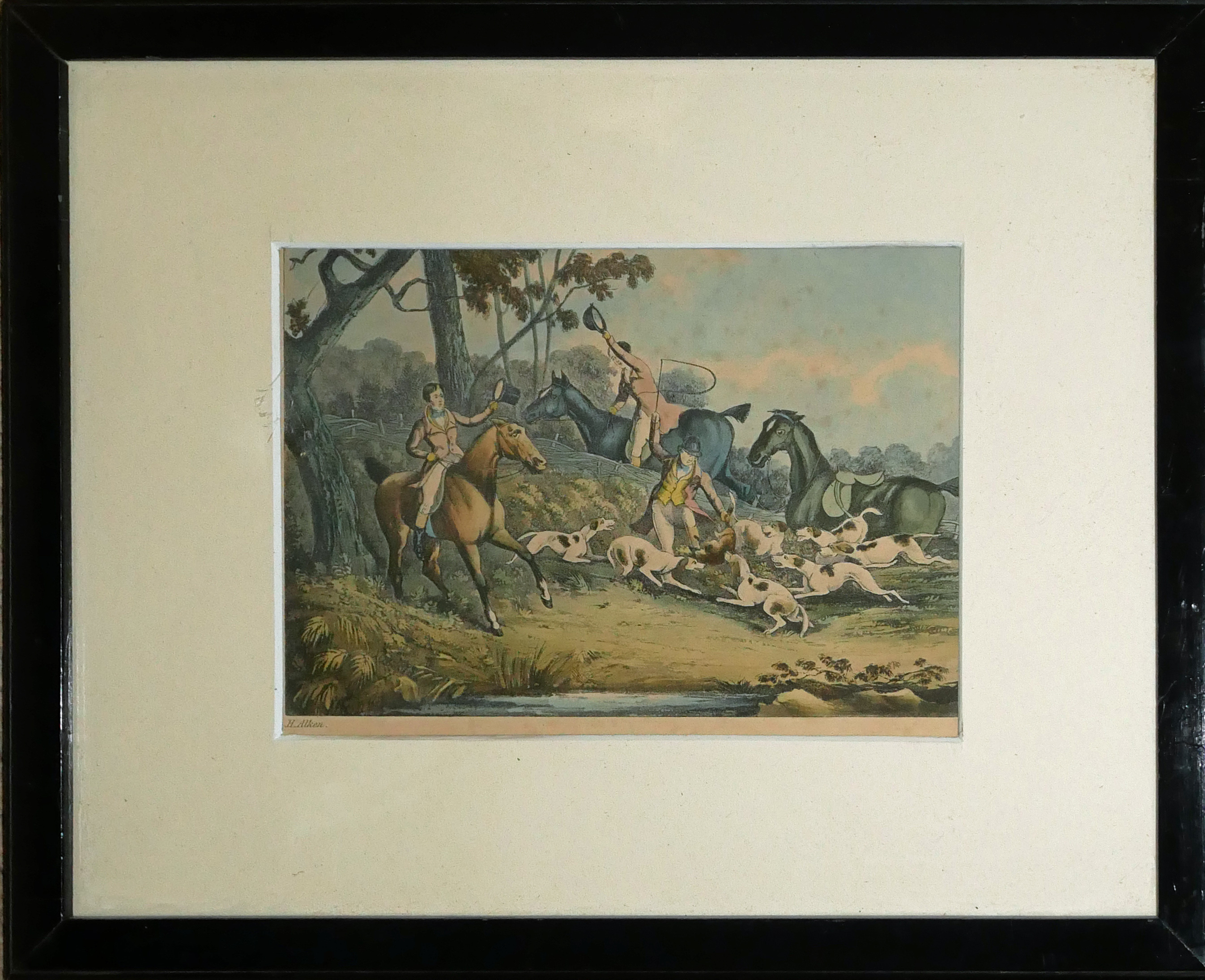 A COLLECTION OF SPORTING COLOURED ENGRAVINGS To include a scene Ben Marshall - notions series, - Image 7 of 7