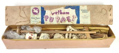 A 20TH CENTURY 'SKELETON' PELHAM PUPPET In original outer box, together with a collection of plastic