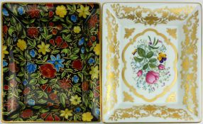 PATEK PHILIPPE, TWO PORCELAIN DISHES Issued by Limoges, 1998 and 1999, marked to base 'Montre dame