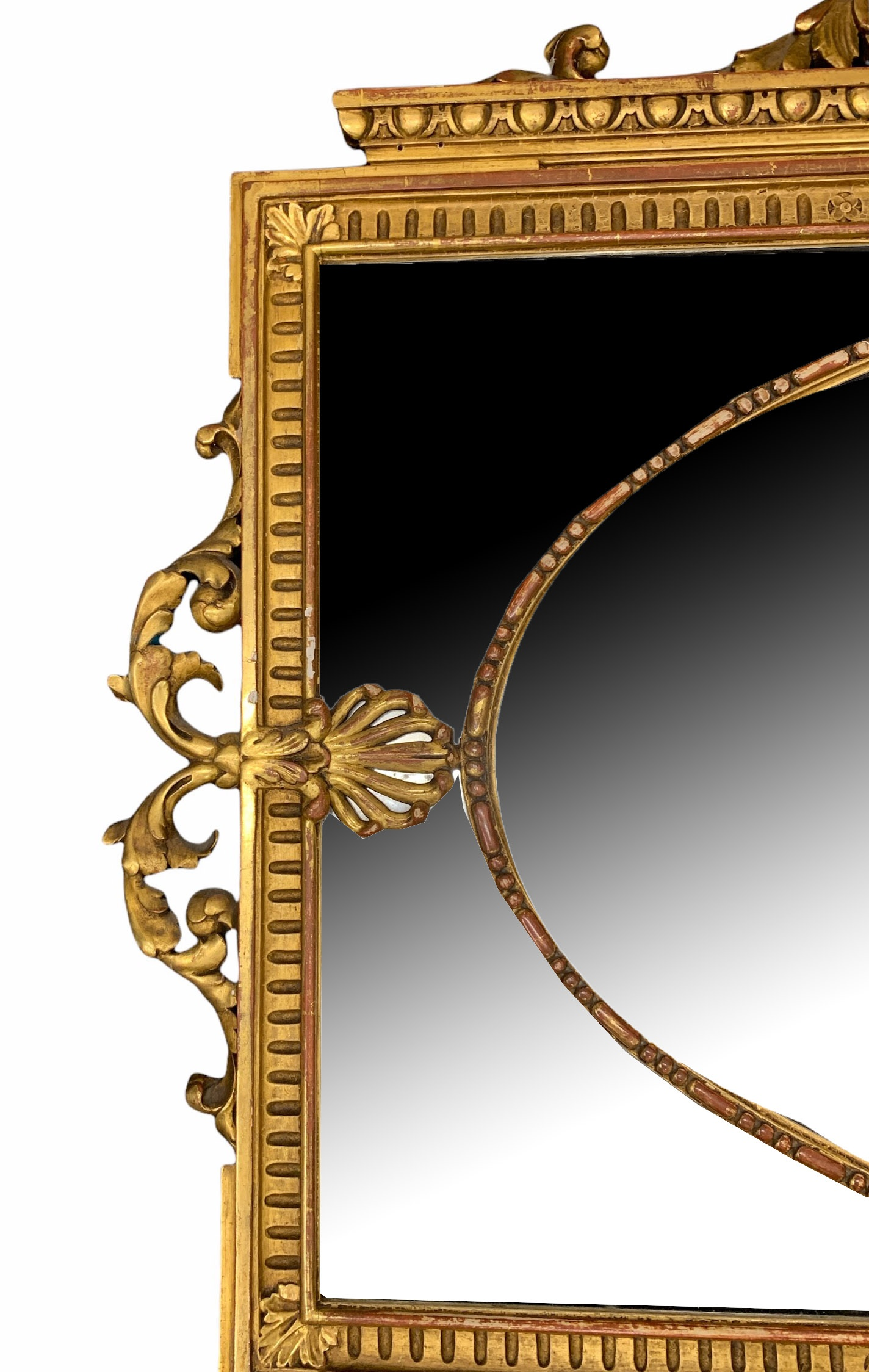 MANNER OF ROBERT ADAM, A LATE 19TH CENTURY CARVED GILTWOOD MIRROR Decorated with scrolling - Image 3 of 3