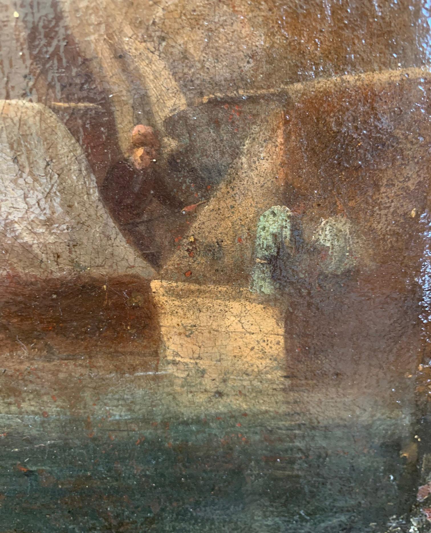 CIRCLE OF JAN VAN GOYEN, LEIDEN, 1596 - 1656, THE HAGUE, 17TH CENTURY OIL ON CANVAS River landscape, - Image 11 of 12