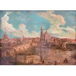 CIRCLE OF BERNARDO BELLOTTO, VENICE, 1722 - 1780, WARSAW, 18TH CENTURY OIL ON CANVAS View of Dresden