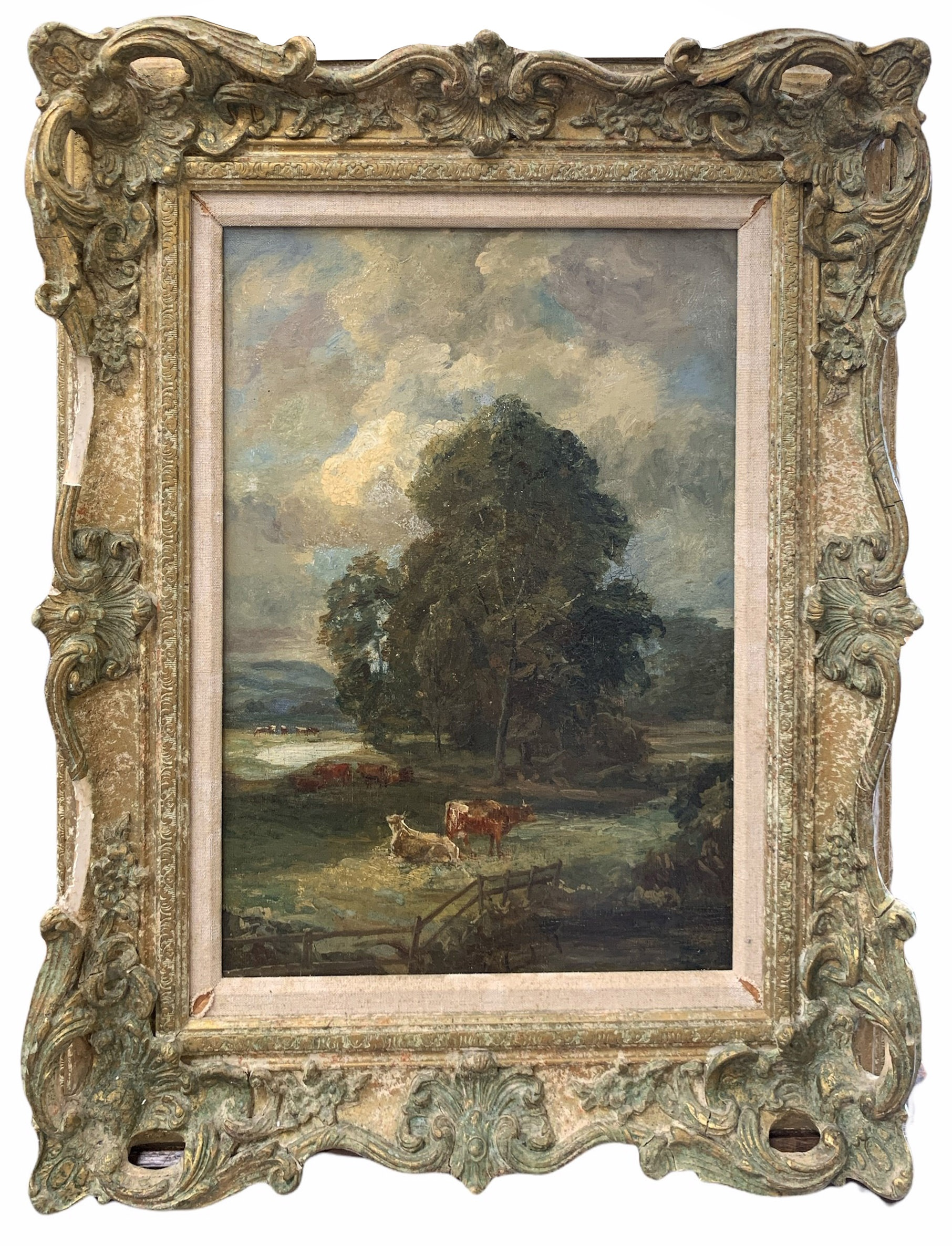 CIRCLE OF JOHN CONSTABLE, R.A., EAST BERGHOLT, SUFFOLK, 1776 - 1837, HAMPSTEAD, 19TH CENTURY OIL