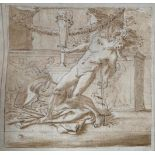 ATTRIBUTED TO CHARLES LE BRUN, 1619 -1690, FRENCH, AFTER NICHOLAS POUSSIN, 17TH CENTURY PENCIL,