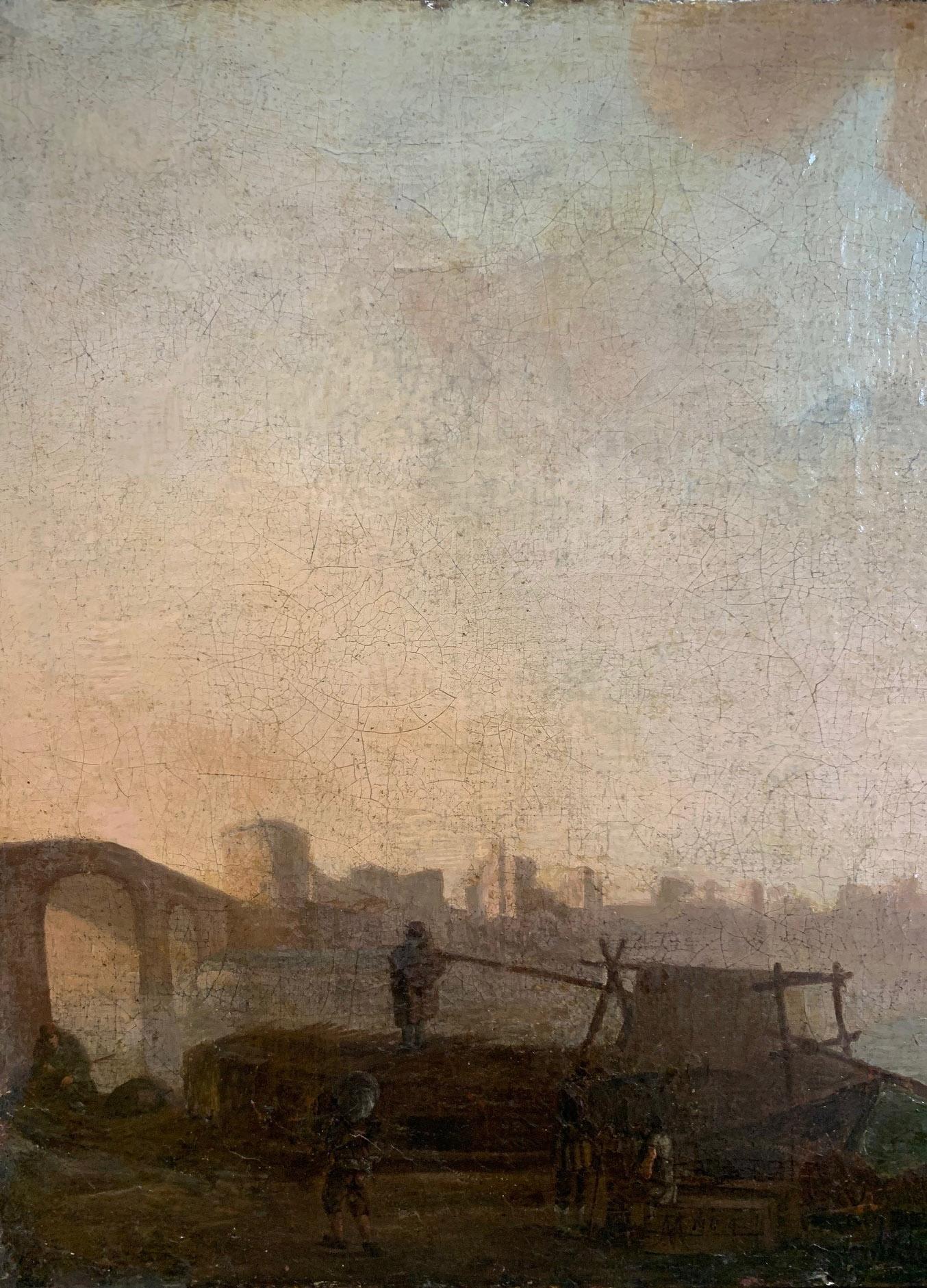 CIRCLE OF JAN VAN GOYEN, LEIDEN, 1596 - 1656, THE HAGUE, 17TH CENTURY OIL ON CANVAS River landscape, - Image 2 of 12
