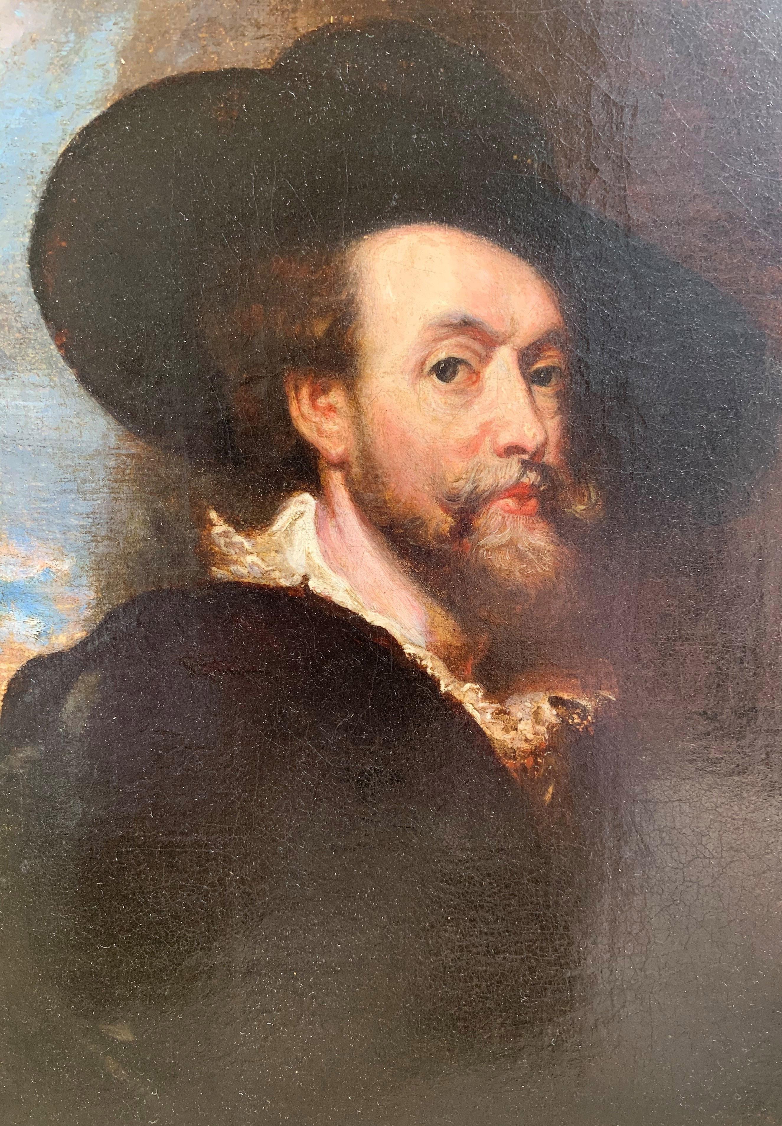 AFTER SIR PETER PAUL RUBENS, SIEGEN, 1577 - 1640, ANTWERP, 17TH CENTURY OIL ON CANVAS Self - Image 6 of 11