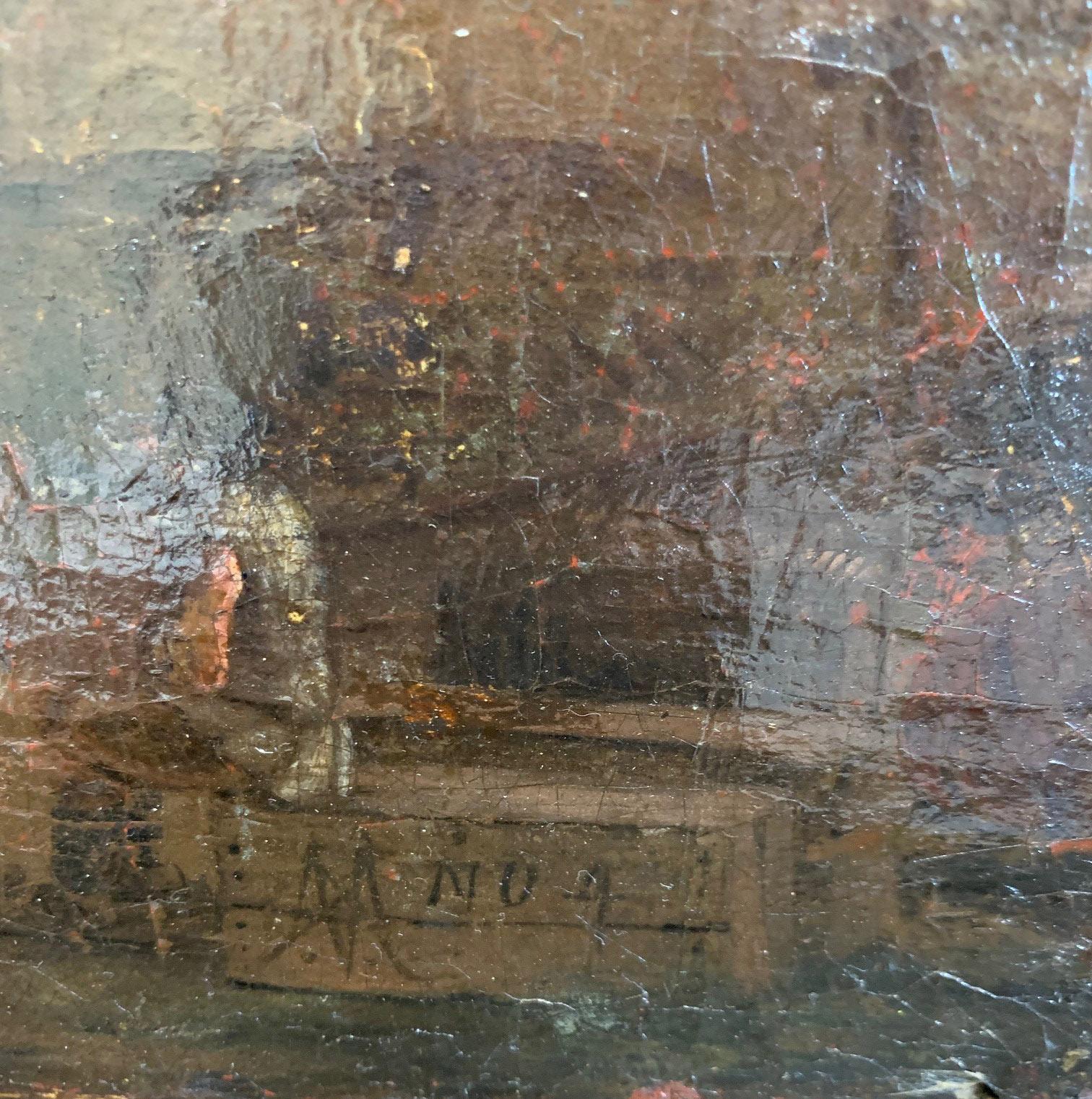 CIRCLE OF JAN VAN GOYEN, LEIDEN, 1596 - 1656, THE HAGUE, 17TH CENTURY OIL ON CANVAS River landscape, - Image 9 of 12