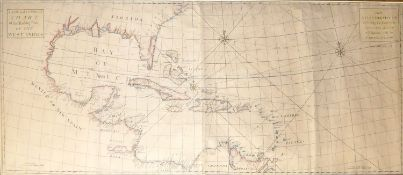THE WEST INDIES, 1720, A LARGE EARLY 18TH CENTURY MAP. A NEW AND CORRECT CHART OF THE TRADING PART