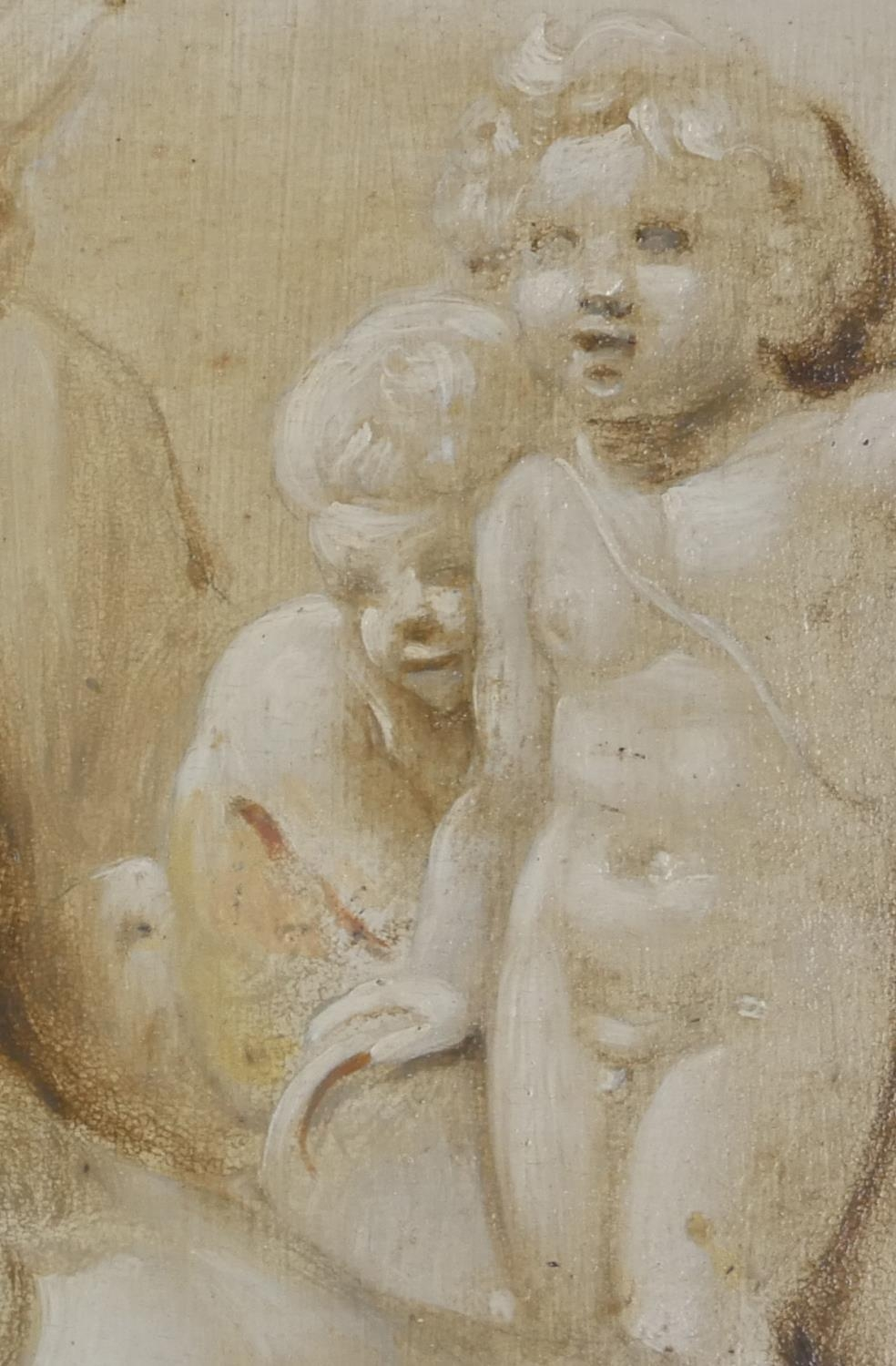 ATTRIBUTED TO JACOB DE WIT, AMSTERDAM, 1695 - 1754, A PAIR OF 18TH CENTURY OILS ON PANEL Putti - Image 4 of 9