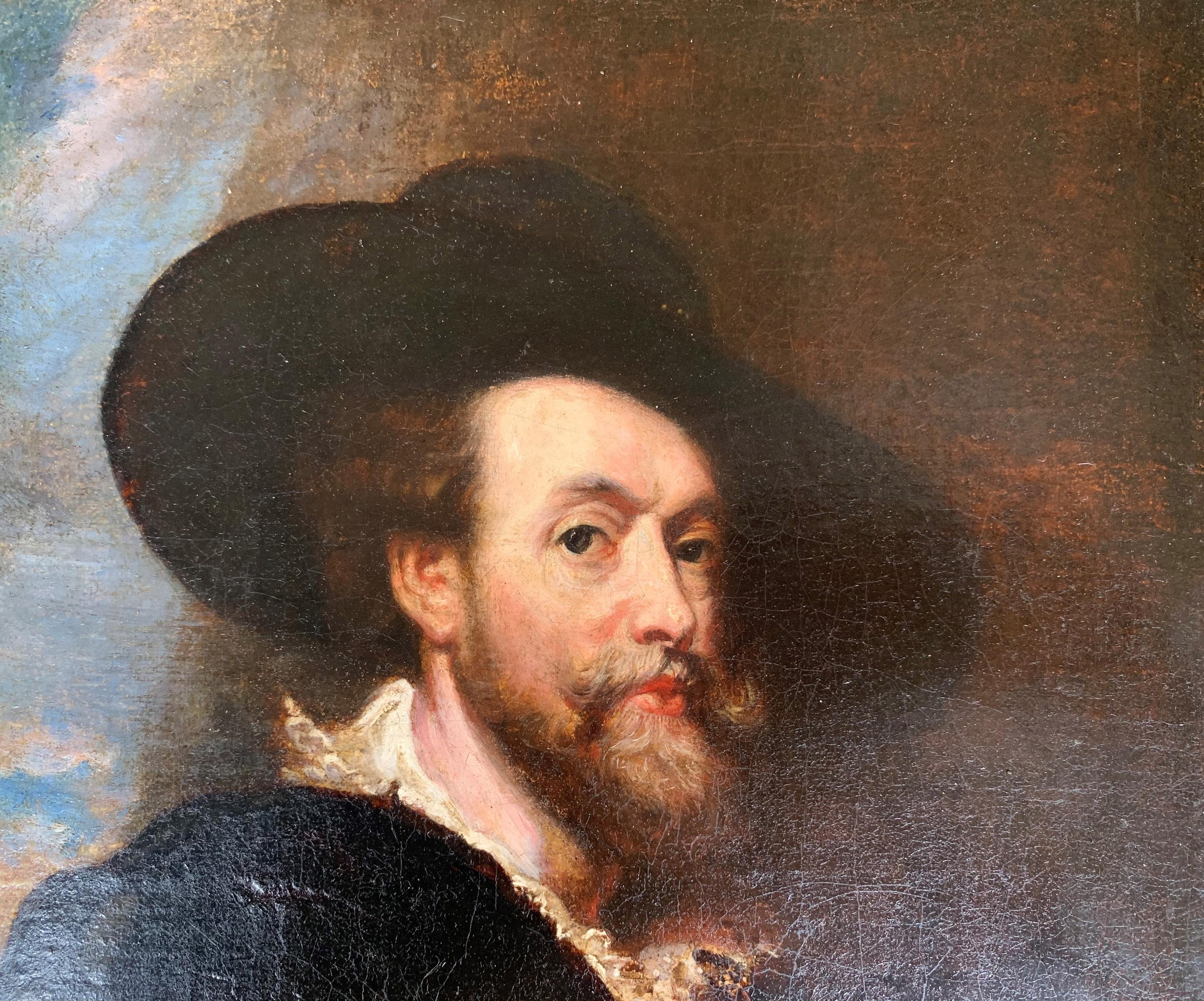 AFTER SIR PETER PAUL RUBENS, SIEGEN, 1577 - 1640, ANTWERP, 17TH CENTURY OIL ON CANVAS Self - Image 4 of 11