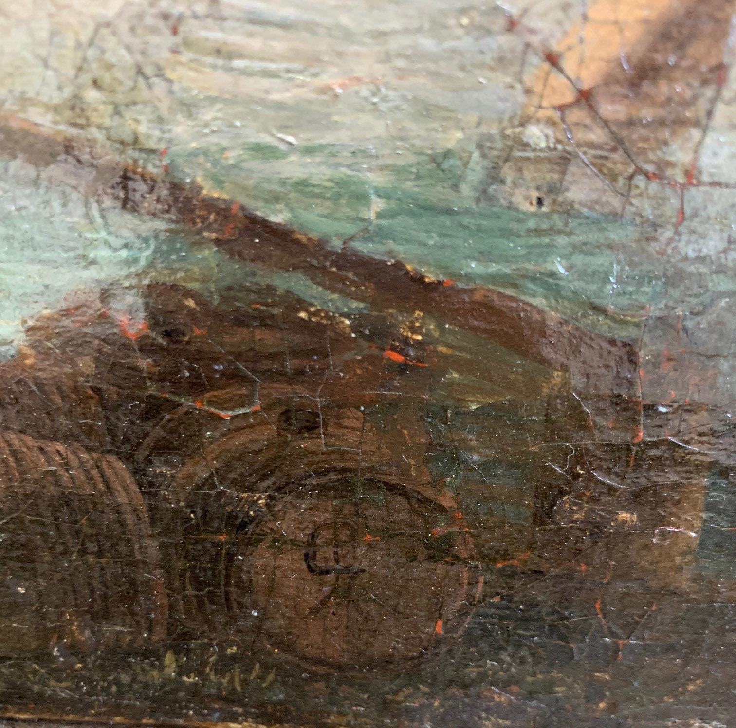 CIRCLE OF JAN VAN GOYEN, LEIDEN, 1596 - 1656, THE HAGUE, 17TH CENTURY OIL ON CANVAS River landscape, - Image 10 of 12