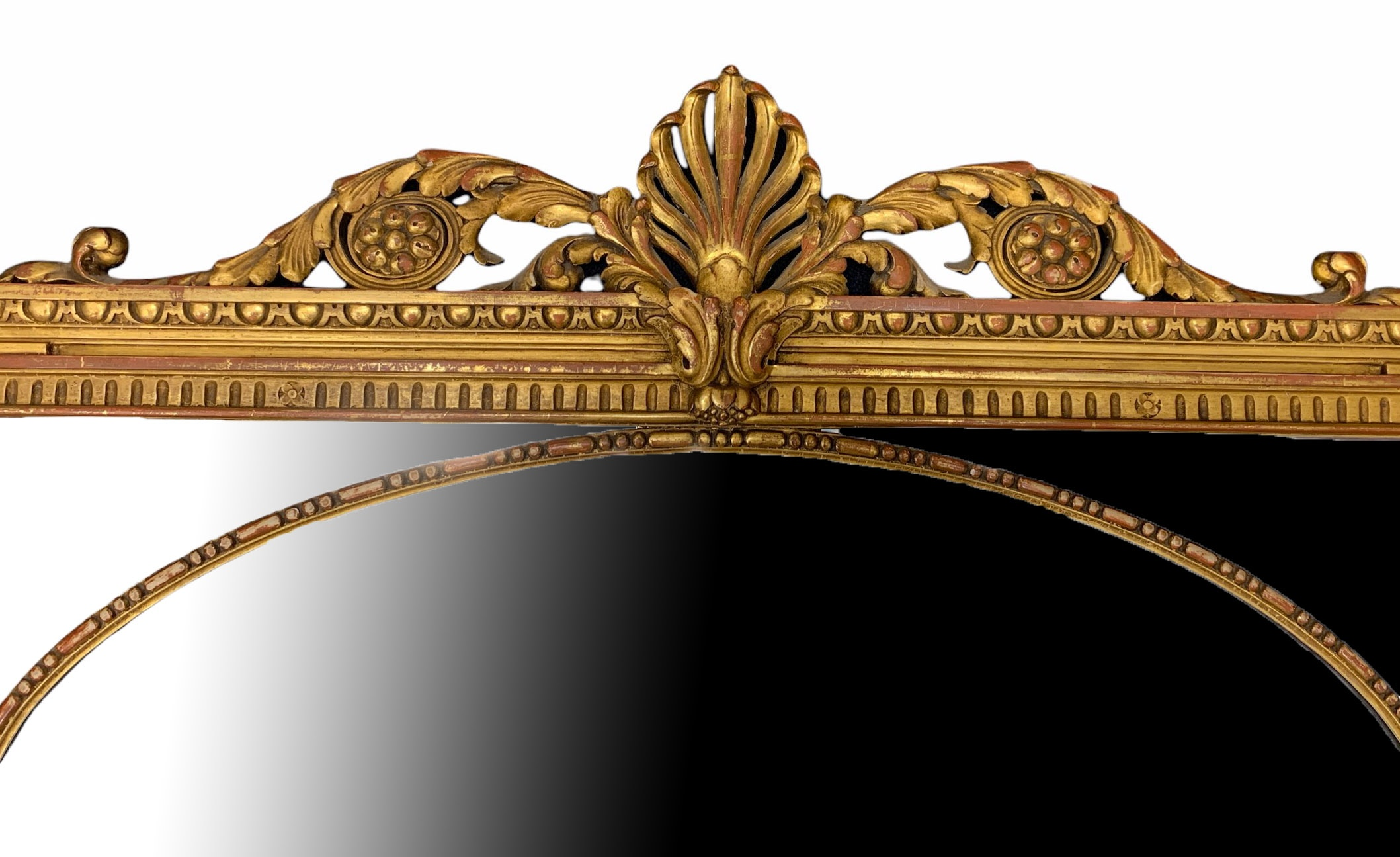 MANNER OF ROBERT ADAM, A LATE 19TH CENTURY CARVED GILTWOOD MIRROR Decorated with scrolling - Image 2 of 3