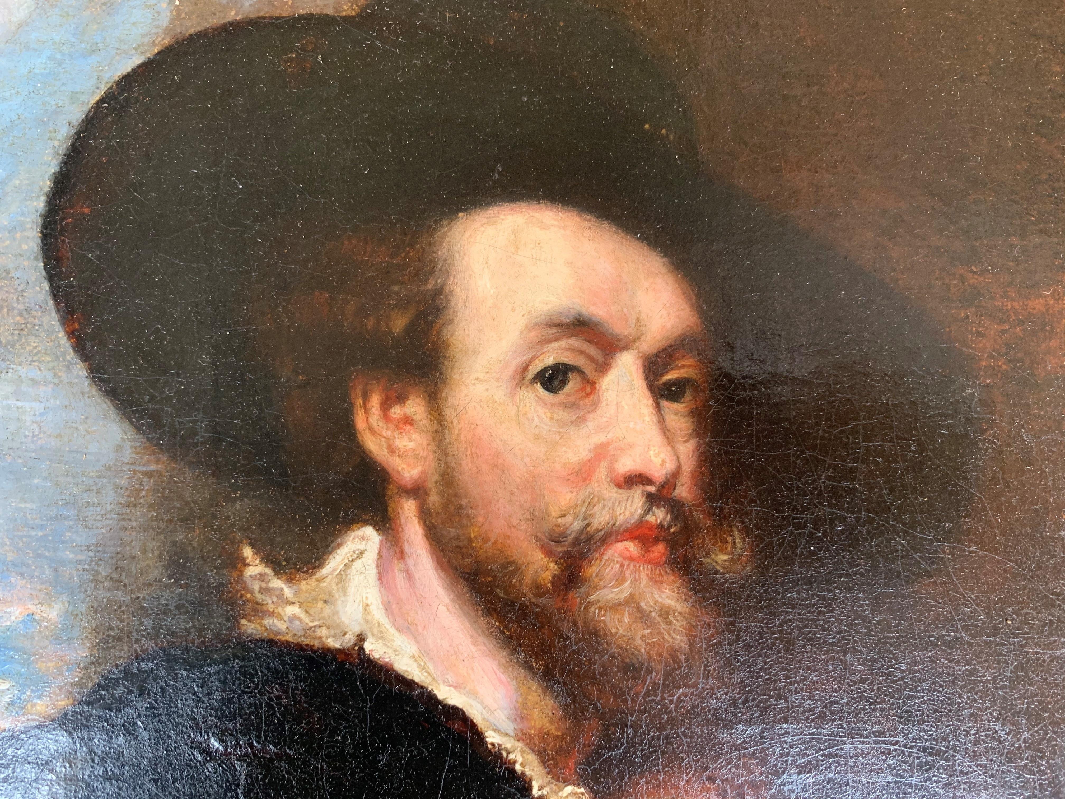 AFTER SIR PETER PAUL RUBENS, SIEGEN, 1577 - 1640, ANTWERP, 17TH CENTURY OIL ON CANVAS Self - Image 3 of 11