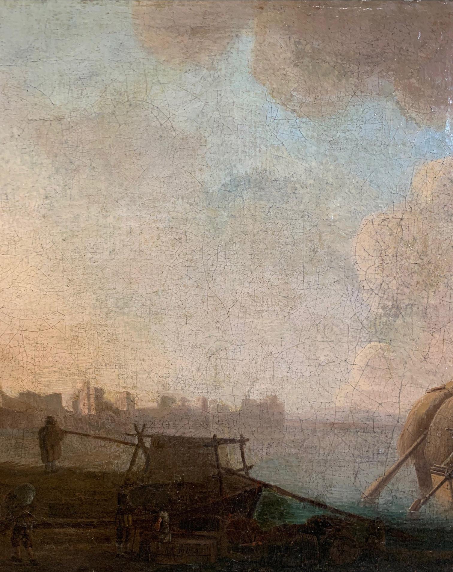 CIRCLE OF JAN VAN GOYEN, LEIDEN, 1596 - 1656, THE HAGUE, 17TH CENTURY OIL ON CANVAS River landscape, - Image 3 of 12