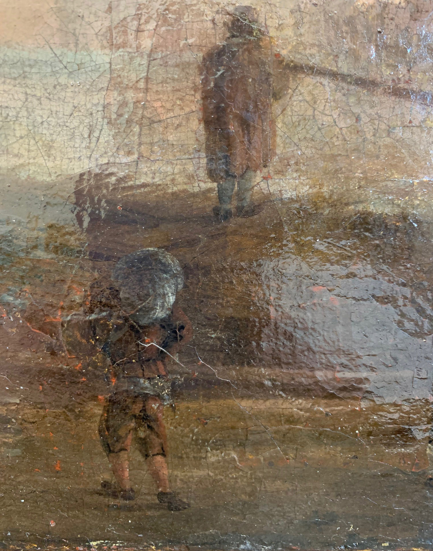 CIRCLE OF JAN VAN GOYEN, LEIDEN, 1596 - 1656, THE HAGUE, 17TH CENTURY OIL ON CANVAS River landscape, - Image 7 of 12