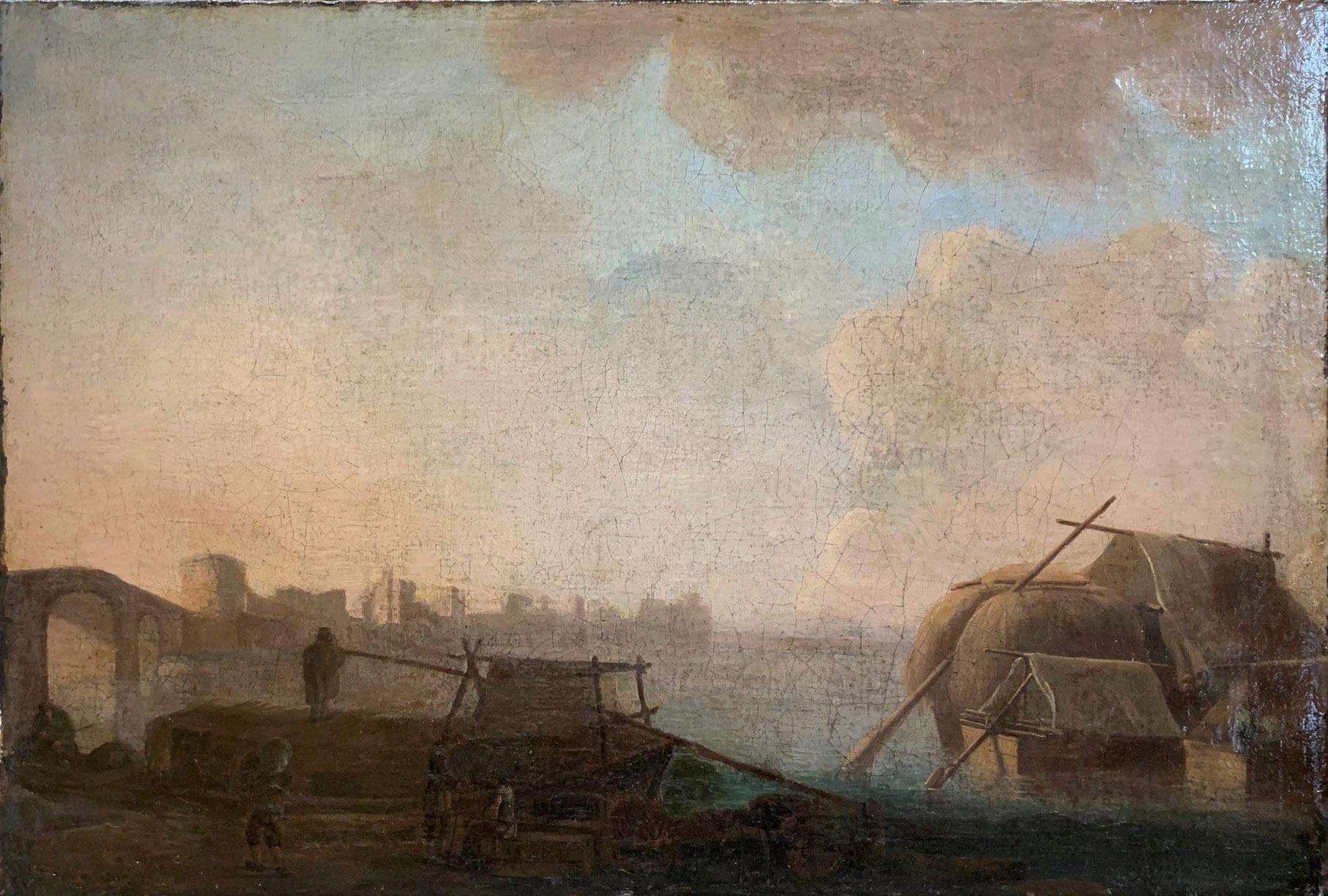 CIRCLE OF JAN VAN GOYEN, LEIDEN, 1596 - 1656, THE HAGUE, 17TH CENTURY OIL ON CANVAS River landscape,