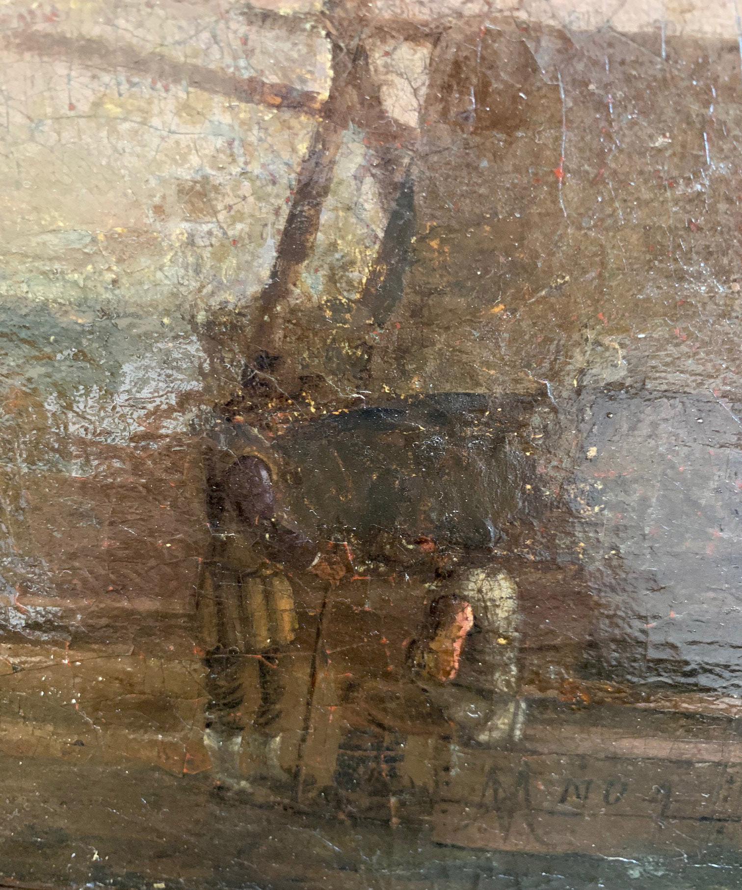 CIRCLE OF JAN VAN GOYEN, LEIDEN, 1596 - 1656, THE HAGUE, 17TH CENTURY OIL ON CANVAS River landscape, - Image 8 of 12