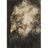 A LATE 19TH/EARLY 20TH CENTURY GERMAN IMPRESSIONIST BRUSH WITH INDIAN INK AND RUSSETT WASH