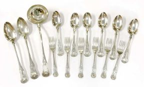 Edinburgh silver King's pattern cutlery