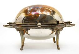 Silver plated items to include, a 19th century warming dish with liner,