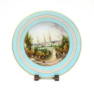 A painted and gilt-heightened porcelain cabinet plate