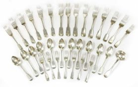 Silver fiddle pattern cutlery