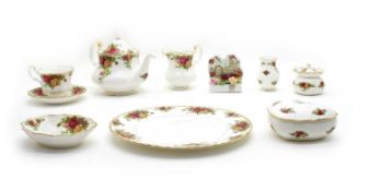 A collection of Royal Albert Old Country Roses,