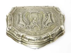 A Dutch silver box,