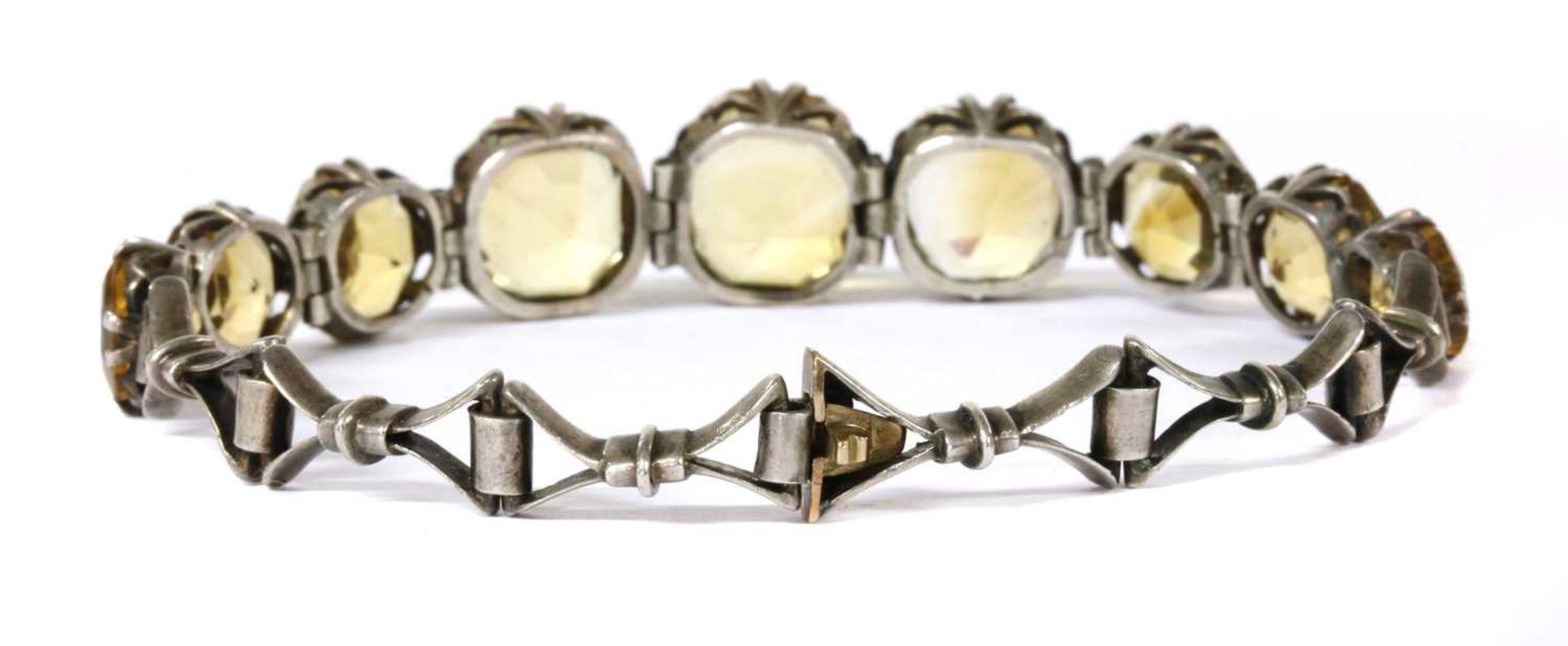 A silver citrine bracelet, - Image 2 of 8