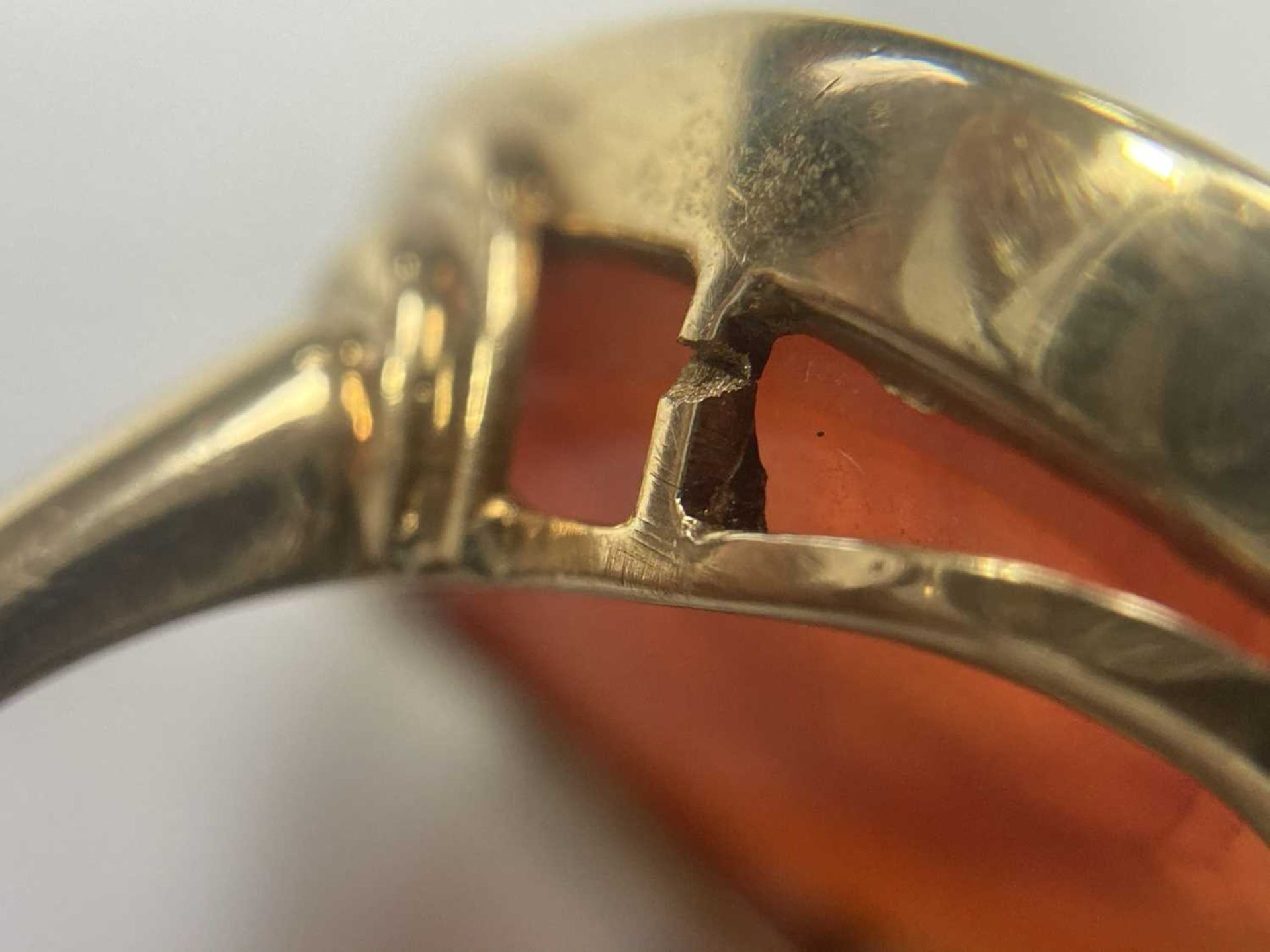 A gold intaglio hardstone signet ring, - Image 8 of 9