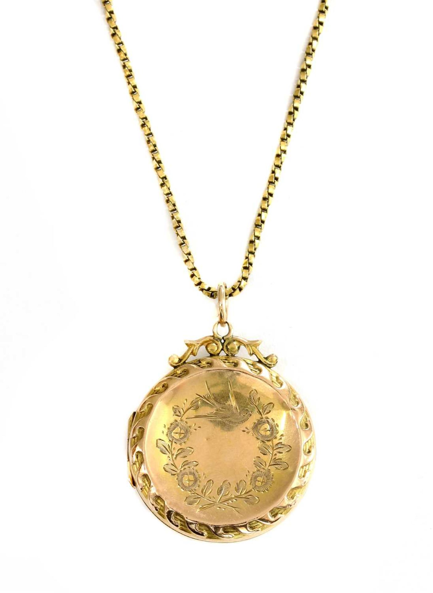 A 9ct back and front locket,