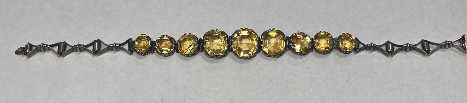 A silver citrine bracelet, - Image 6 of 8