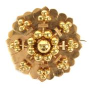 A late Victorian gold brooch,