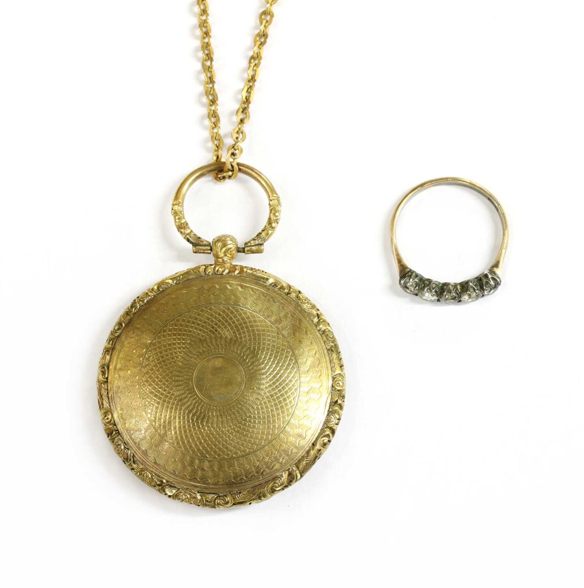 A gilt metal photo locket, - Image 2 of 2