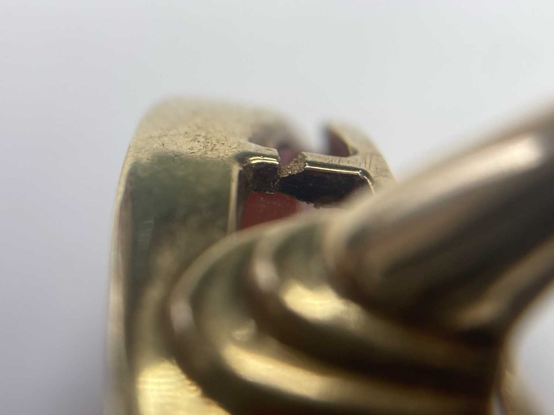 A gold intaglio hardstone signet ring, - Image 7 of 9