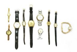A quantity of watches,