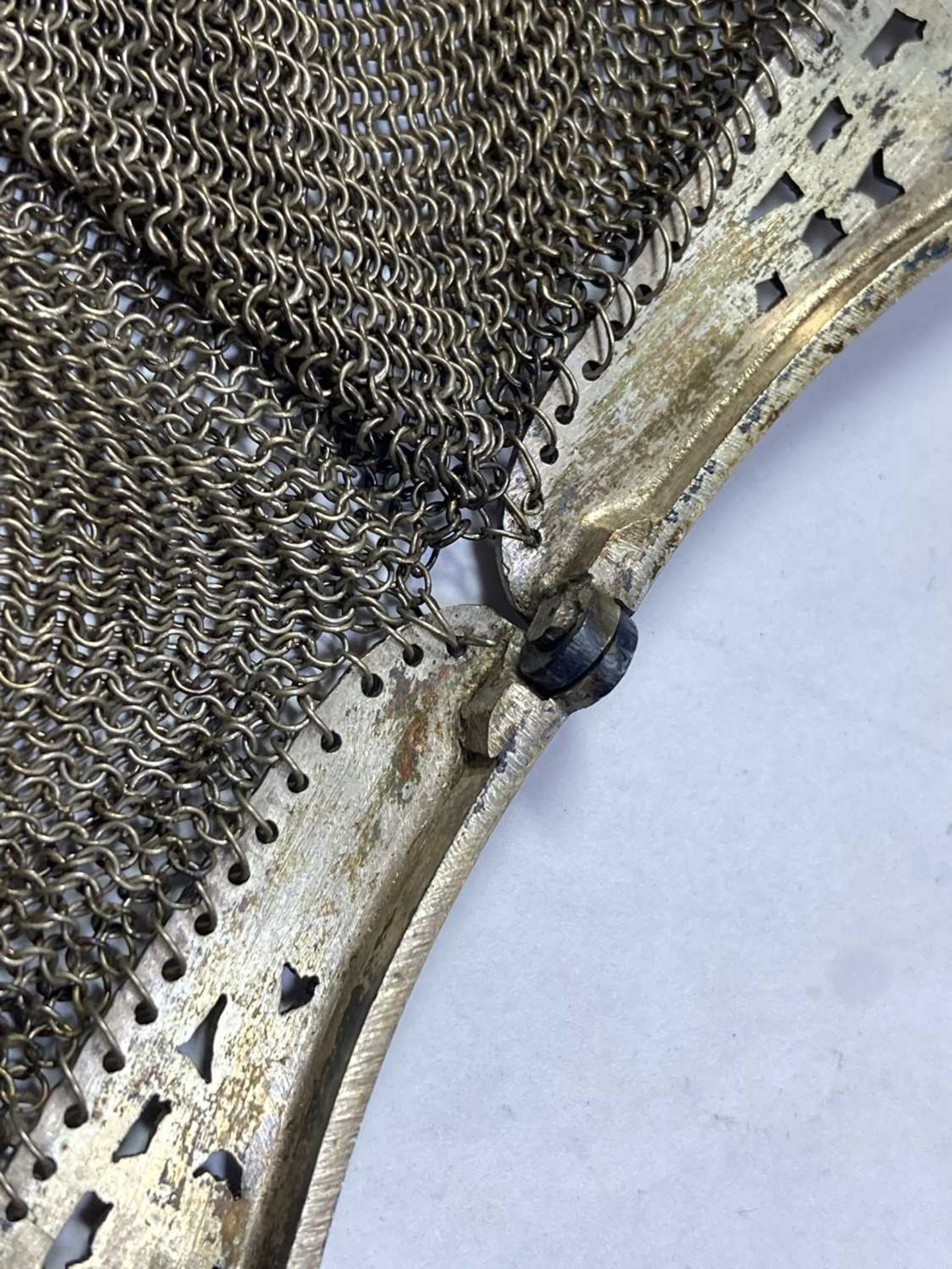 A silver mesh purse, - Image 3 of 6